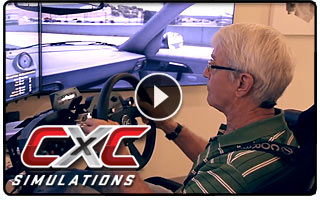 John Morton drives the CXC Motion Pro Simulator